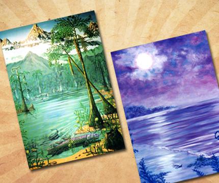 Postcards Devonian Period