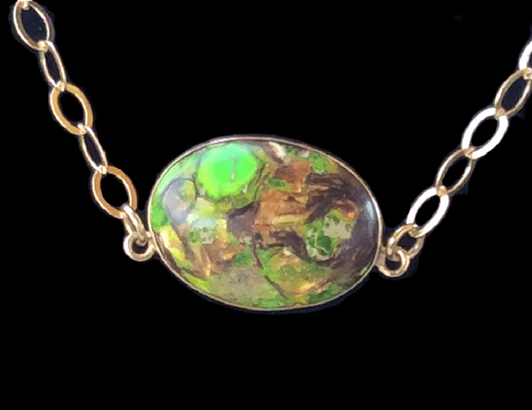 Jasper and Matrix Necklace